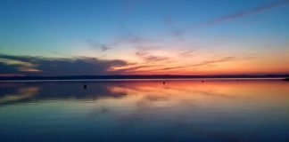 Sunset in Podersdorf am see
