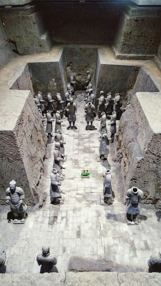 In Xi'an to discover the terracotta warriors