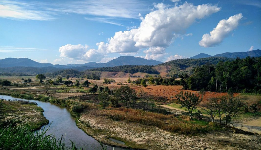 Landscape of the Laos countryside near Namphao border