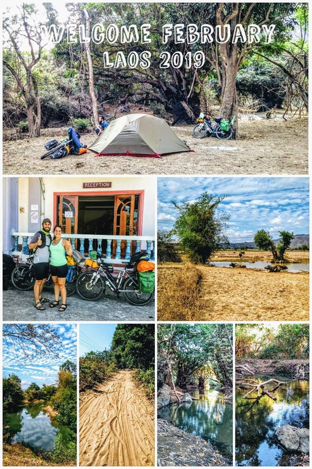 Camping and waterfalls on the Thakhek Loop by bicycle
