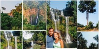 Beatifull nature and waterfalls in the Bolaven Plateau